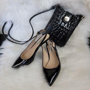 Karl Lagerfeld Lily Slingback Kitten Heel Shoes